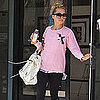 Nicole Richie in Mizuno Running Shoes and Free City Tee