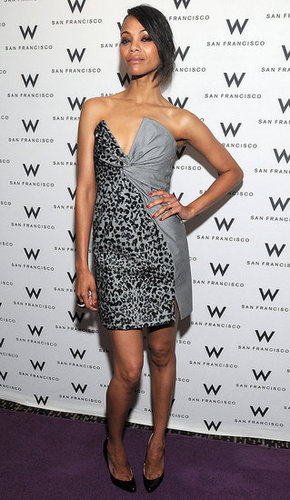 Zoe Saldana Wears Salvatore Ferragamo Dress to San Francisco International Film Awards