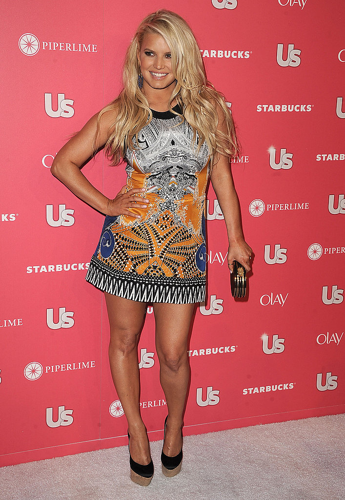 An Etro-clad Jessica Simpson was the guest of honour at Us Weekly's annual Hot Hollywood party in 2011.