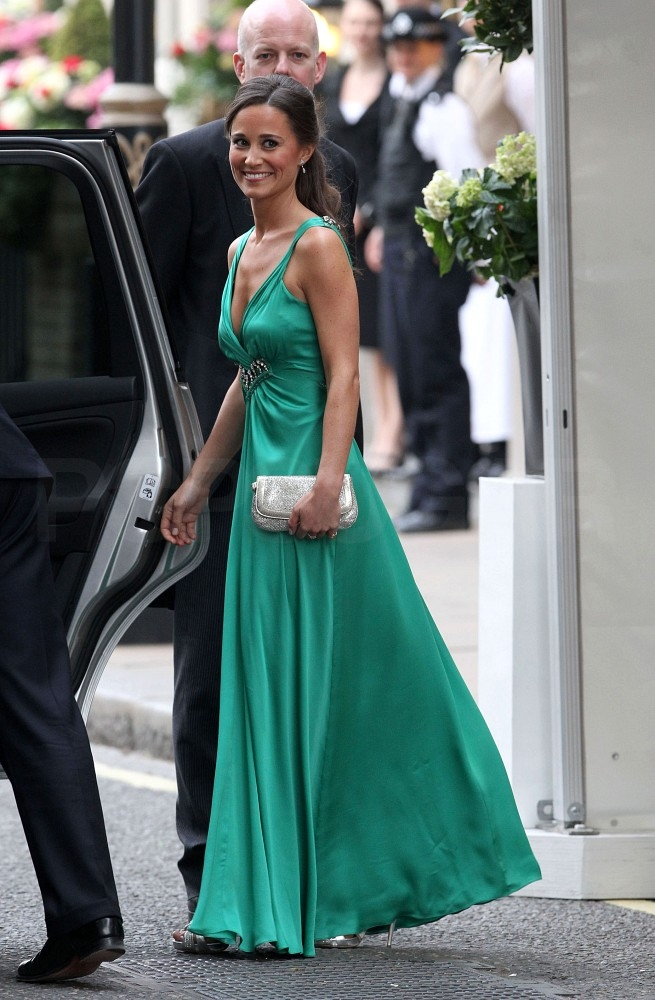 Pippa Middleton Changes Into Emerald Alice Temperley Gown for Evening Reception Festivities