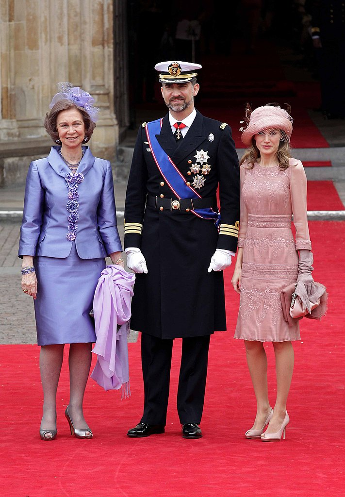 Queen Sofia of Spain, Prince Felipe of Asturias and Princess Letizia of Asturias