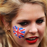 Excited Londoners Show Off Face Paint For the Royal Wedding