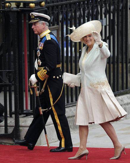 Prince Charles and Camilla Parker Bowles Arrive at the Royal Wedding