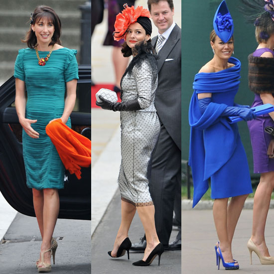 British women sure do know how to dress for a party Royal wedding guests