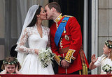 Will and Kate kiss on the balcony.