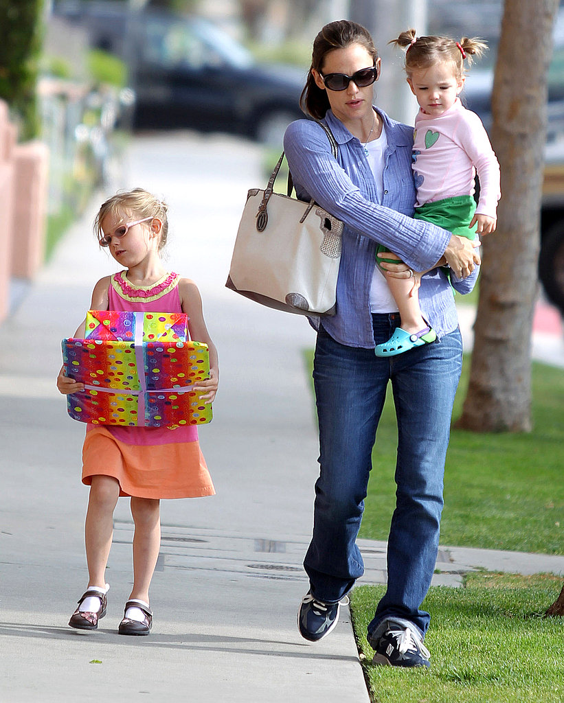 Jennifer, Violet, and Seraphina Kick Off Mother's Day Weekend With a Birthday Party