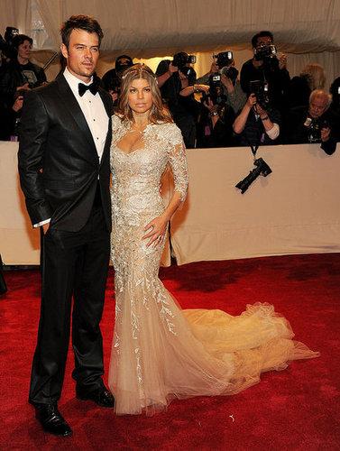 Josh Duhamel and Fergie in Marchesa