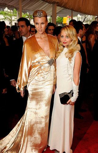 Britt Maren in custom Winter Kate, with the designer Nicole Richie