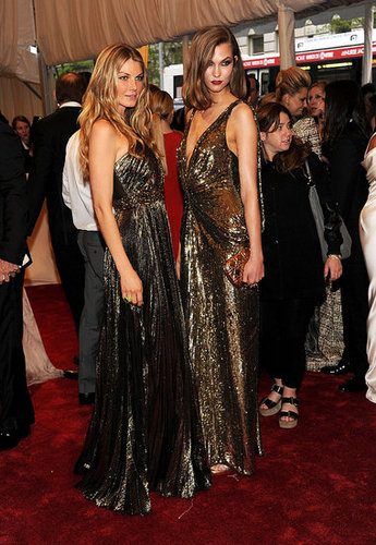 Angela Lindvall and Karlie Kloss in Christian Dior