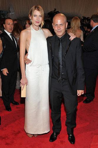 Dree Hemingway in Calvin Klein, with Italo Zucchelli