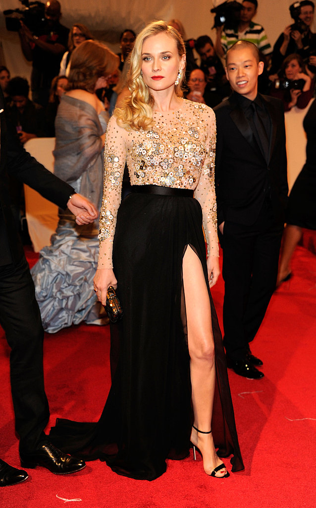 Diane Kruger Shows Lots of Leg in a Sexy Jason Wu Gown With Josh on her Arm at the Met Gala