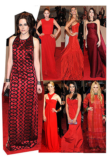 Red Dresses Trend at Met Gala 2011