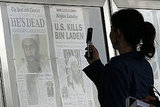 The Newseum in Washington DC posted today's newspaper headlines on the death of Osama bin Laden.