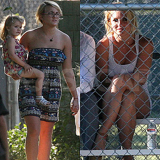 Britney Spears Pictures at Little League Game With Jamie Lynn Spears and Maddie Aldridge