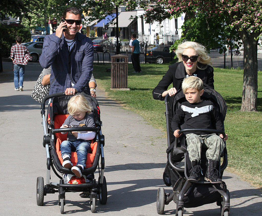 Gwen and Gavin Race Through a Second Fun-Filled Day With the Boys