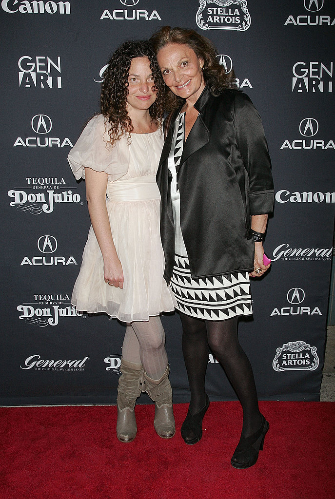 Diane von Furstenberg and daughter Tatiana.