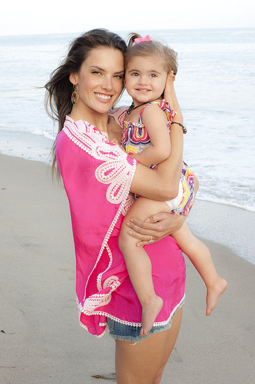 Alessandra Ambrosio and baby daughter Anja.