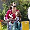 Jennifer Garner and Seraphina Affleck at the Grocery Store
