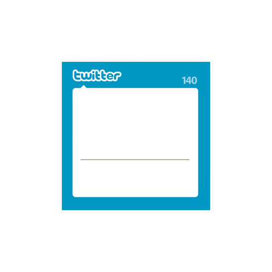Designer César Santiago created a downloadable template for this Twitter notepad design, with files for easy personalization in Photoshop or Adobe InDesign. Just pop in your Twitter avatar and username to create a stack of printable notes.