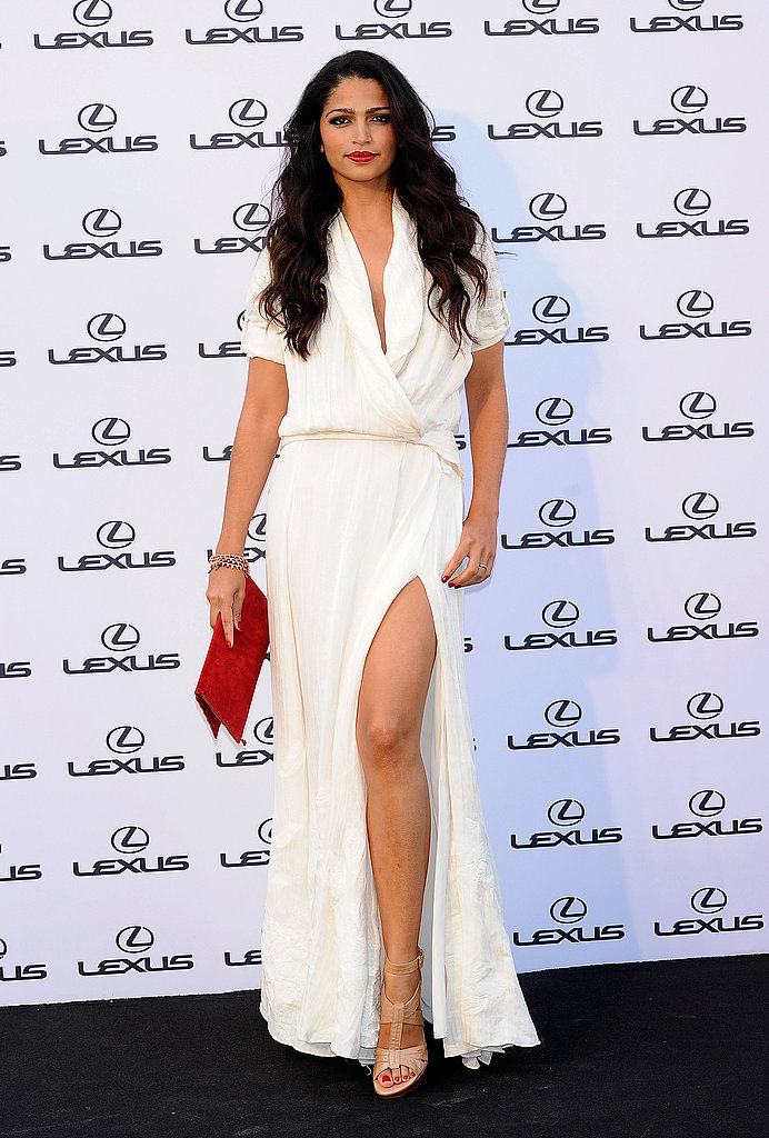 Camila Alves channeled old Hollywood glam with gorgeous waves and a perfect red lip.