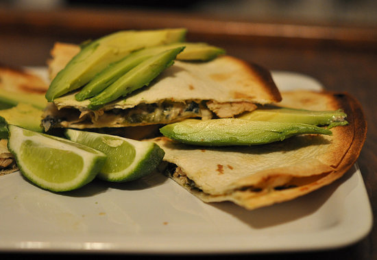 Creamy Chicken and Roasted Poblano Quesadillas