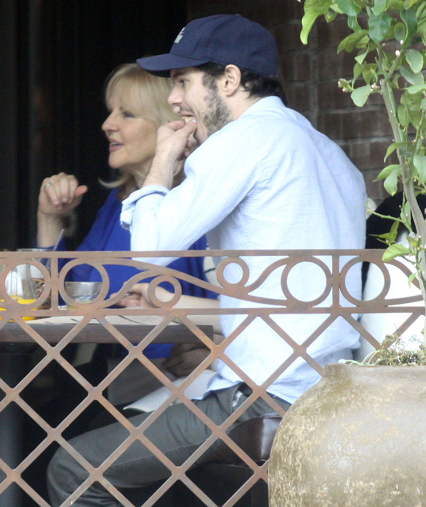 Adam Brody and Girlfriend Lorene Seek Out Their Family on Mother's Day