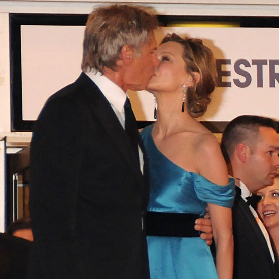 Harrison Ford kissed wife Calista Flockhart at the 2008 premiere of Indiana Jones and the Kingdom of the Crystal Skull.