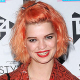 Pixie Geldof Matches Her Hair and Lipstick