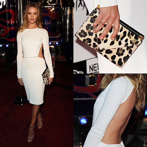 Rosie Huntington Whiteley in White Max Mara Dress at Maxim Party