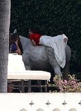 Eva Longoria Poses Topless on a Horse With Eduardo Cruz Close By