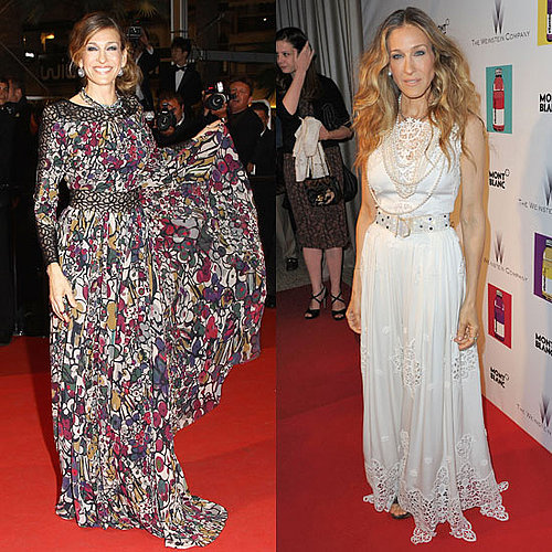 Pictures of Sarah Jessica Parker at Cannes Film Festival 2011 in Elie Saab and Dolce & Gabbana dresses