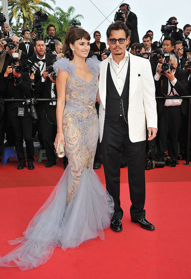 Penelope Cruz and Johnny Depp Sail Into Cannes For Glamorous Pirates Premiere!