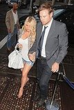 Jessica Simpson Brings Her Short Shorts and Eric Johnson to an Artsy Opening
