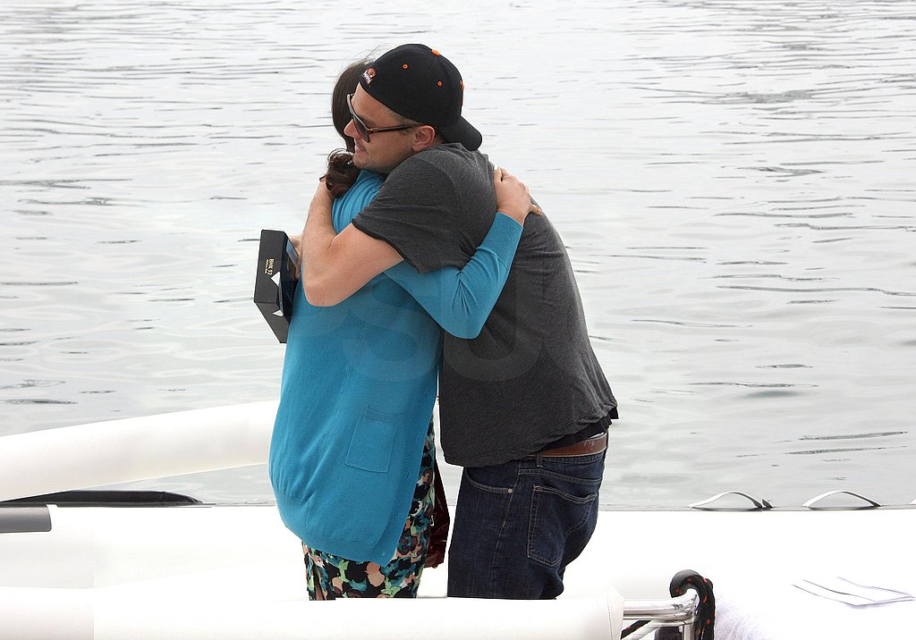 Leonardo DiCaprio Moves On From His Bar Breakup With Hugs in Cannes