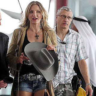 Cameron Diaz Pictures Shooting Gambit With Colin Firth in London