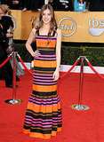 Prada's brightly-hued stripes on the SAG Awards red carpet.