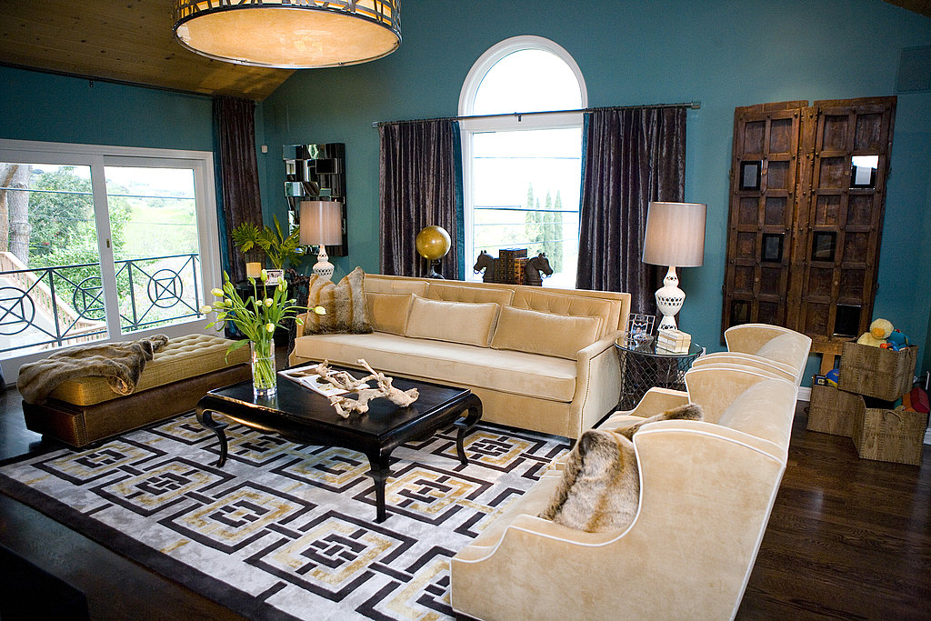 Getting HGTV'd by Kim Myles adds a touch of elegance to a multipurpose room.