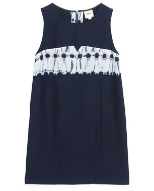 Whit Shibori Run Dot Sleeveless Dress ($375)