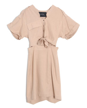 Rachel Comey Tie-Front Silk Picnic Dress ($425)