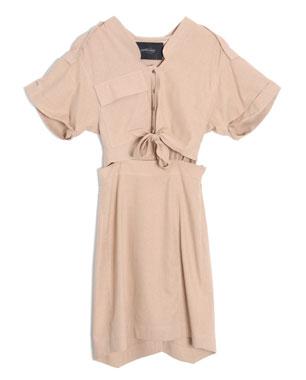 Rachel Comey Tie-Front Silk Picnic Dress ($425)