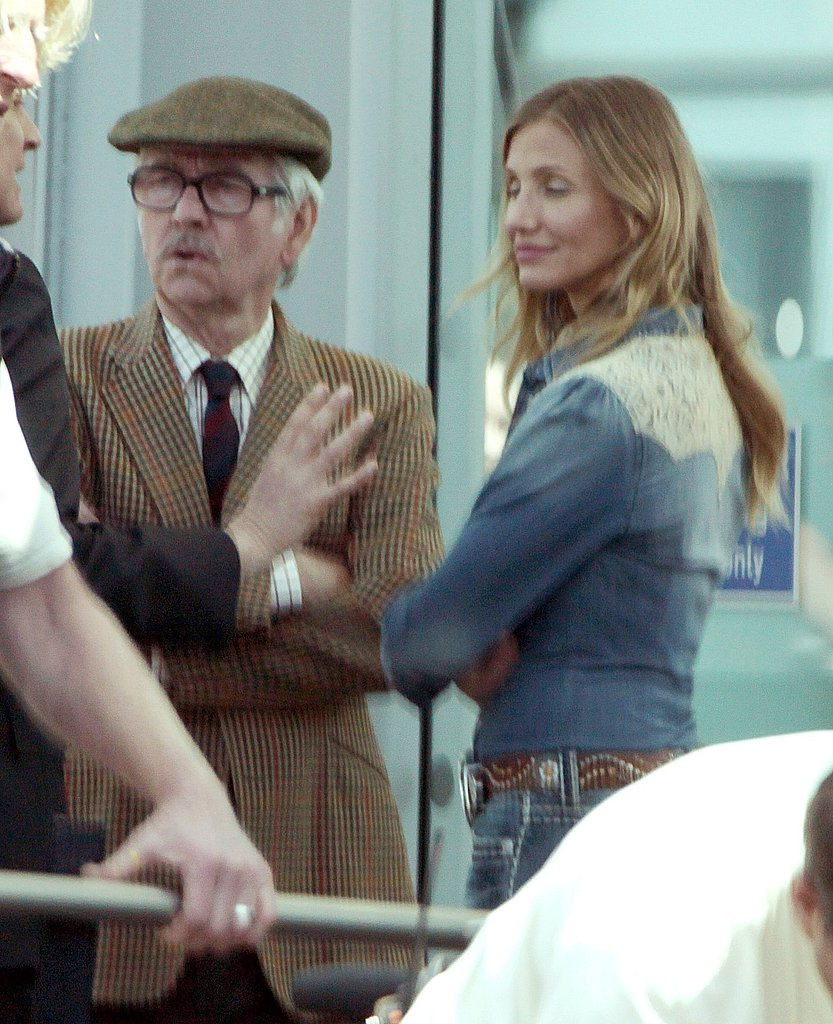 Cameron Diaz and Colin Firth Share a Deep Conversation on the Gambit Set