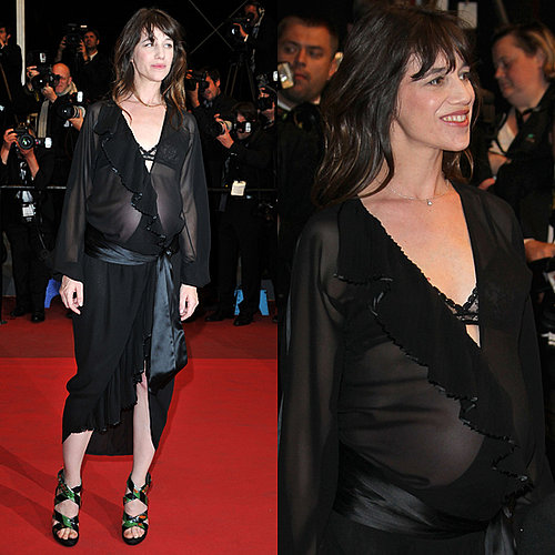 Charlotte Gainsbourg in Sheer Dress at Cannes