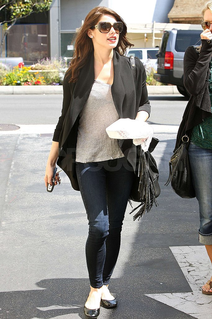 Ashley Greene Heads Home From Lunch With Some Leftovers