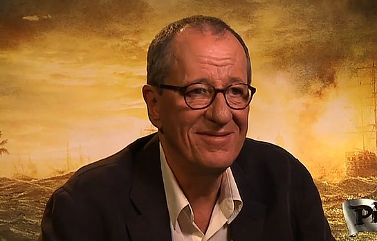 Video: Geoffrey Rush Talks Sparring With Johnny Depp and Barbossa's Latest Adventure