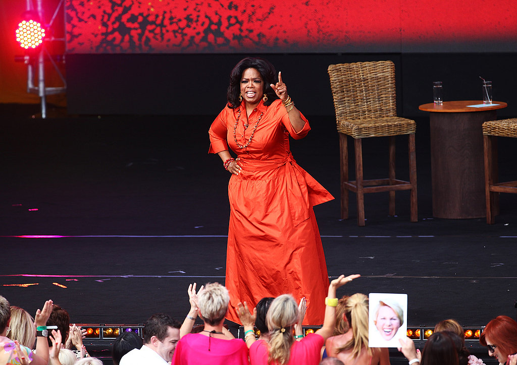 Oprah got the audience going for a day of filming in Australia in 2011.