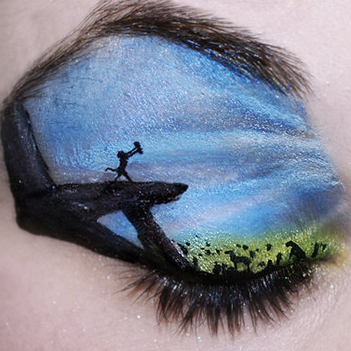 Can You Guess the 20 Fantastical Landscapes Painted on These Eyelids?