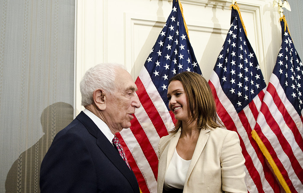 Jessica Alba Makes a Smiley Appearance in DC For a Serious Issue