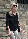 Kate Moss Heads Home Following a Ritzy Stop in Paris With Jamie Hince