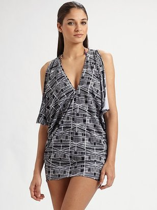 A graphic print and cool split sleeves. Mara Hoffman Swim Cover Up, $231