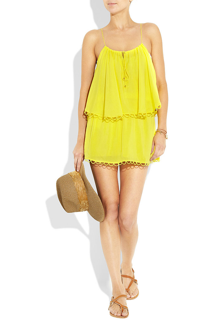 Bright and perfect for slipping over a bikini.  Vix Lola Voile Dress, $135